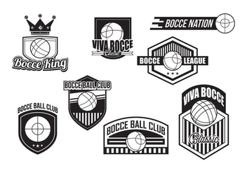 Bocce Badges Vector - Free vector #445413