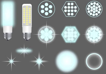 LED Lights Vector Pack - бесплатный vector #445443