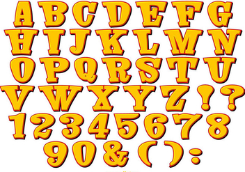 Cute Comic Style Alphabet Collection - Free vector #445483