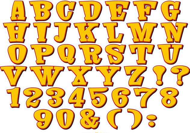 Cute Comic Style Alphabet Collection - Kostenloses vector #445483