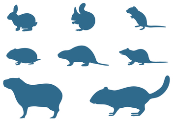 Rodents Silhouettes Collection - Kostenloses vector #445503