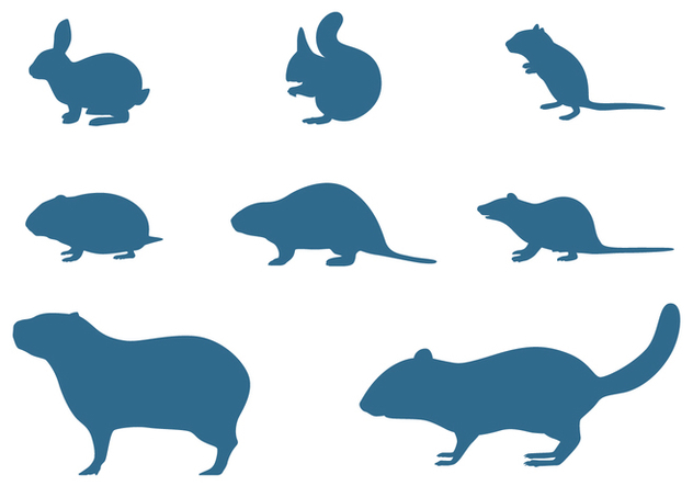 Rodents Silhouettes Collection - Free vector #445503