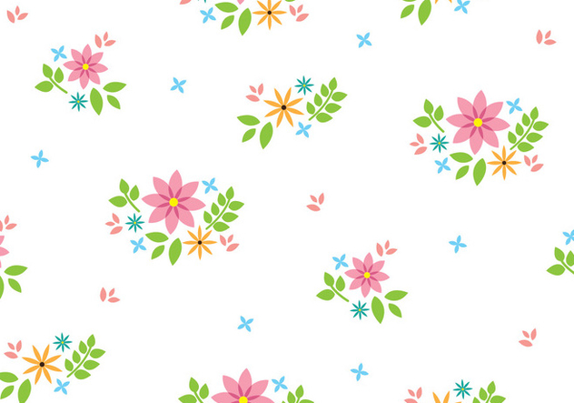 Floral Seamless Pattern - vector gratuit #445583
