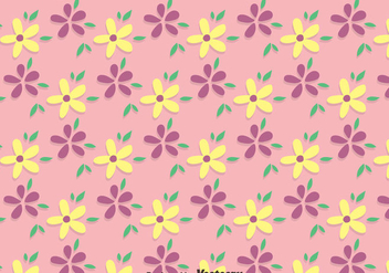 Pink Ditsy Floral Pattern Vector - Free vector #445603