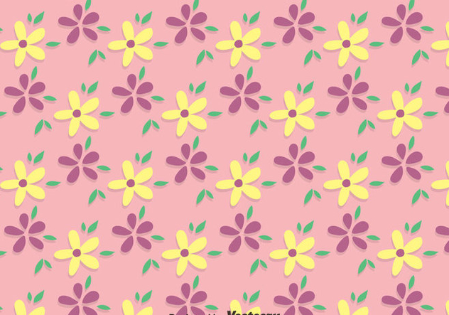 Pink Ditsy Floral Pattern Vector - vector gratuit #445603