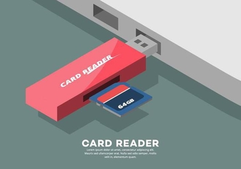 Card Reader Illustration - Free vector #445613