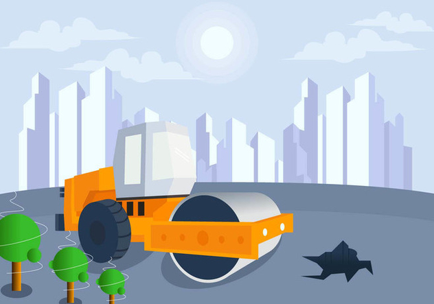 Construction In Future City Vector - Kostenloses vector #445623