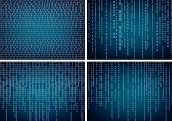 Matrix Style Binary Background - vector #445723 gratis