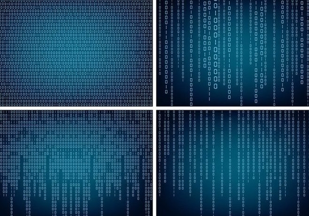 Matrix Style Binary Background - Free vector #445723