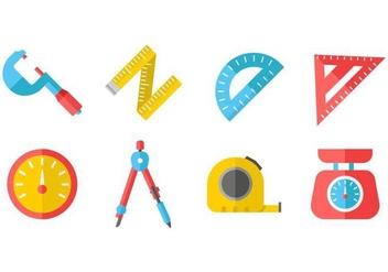 Free Measuring Tools Icons Vector - Free vector #445773