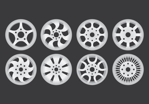 Alloy Wheel Icons - Free vector #445783