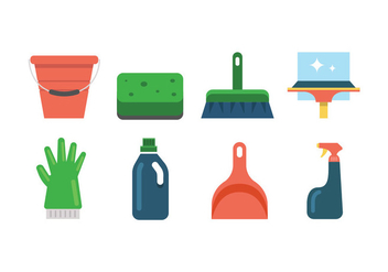 Cleaning tool vector icons - Free vector #445823