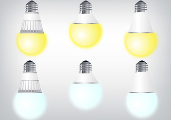 Realistic LED Lighting Vectors - vector gratuit #445833