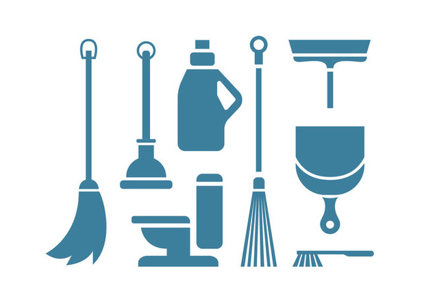 Cleaning tool vector icons - vector gratuit #445863
