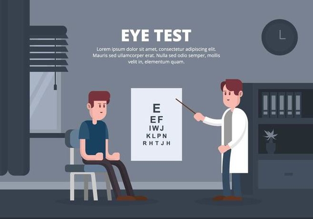 Eye Test Illustration - vector #445873 gratis