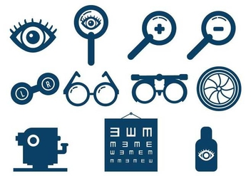 Eye Test vector set - vector gratuit #445893