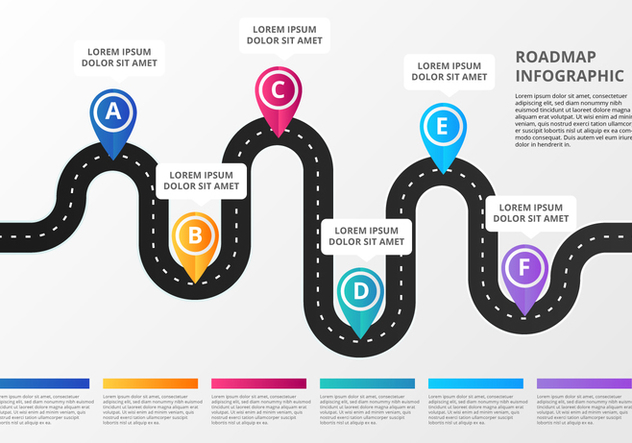 Free Roadmap Infographic - vector #445903 gratis