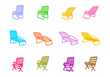 Lawn Chair Icon - vector #445913 gratis