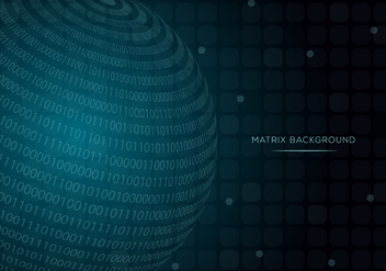 Sphere Matrix Background Vector - vector gratuit #445943