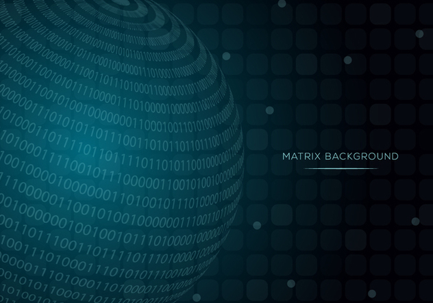 Sphere Matrix Background Vector - Kostenloses vector #445943