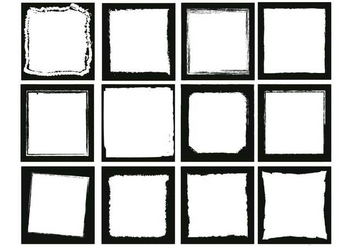 Photo edges square vector set - Kostenloses vector #445953
