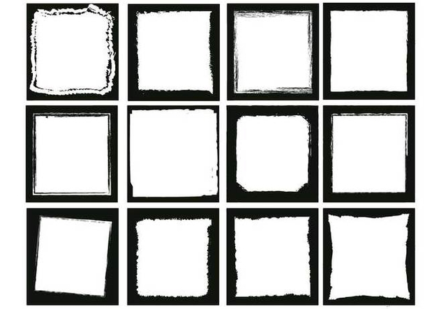 Photo edges square vector set - vector gratuit #445953