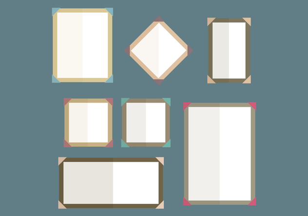 Set Of Frames With Edges - vector gratuit #445963