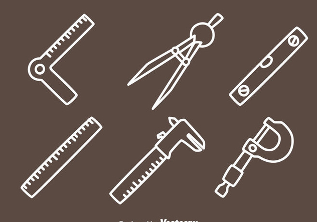 Meansurement Tools Line Icons Vector - vector gratuit #445973