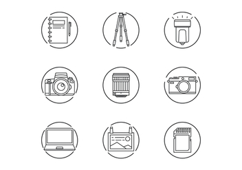 Photographer Gear Icons - Free vector #445993