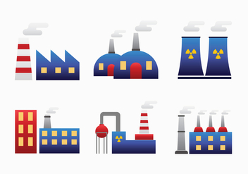 Factory Smoke Stack Vector Pack - Free vector #446033