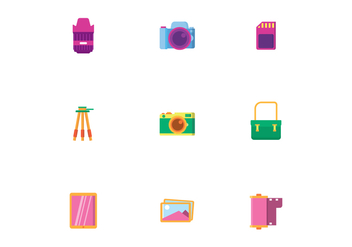 Camera Equipment - Kostenloses vector #446043