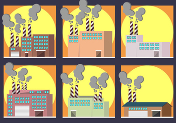 Smoke Stack Factory Pack Vector - Kostenloses vector #446063