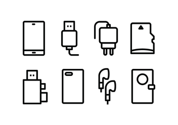 Phone Accessories Icon Pack - vector gratuit #446103