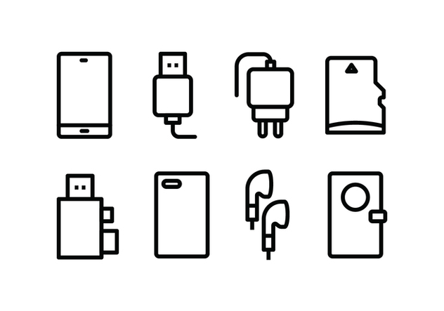 Phone Accessories Icon Pack - vector #446103 gratis