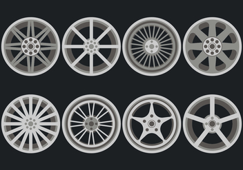 Alloy Wheels Vector Icons - Free vector #446313