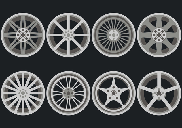 Alloy Wheels Vector Icons - vector #446313 gratis