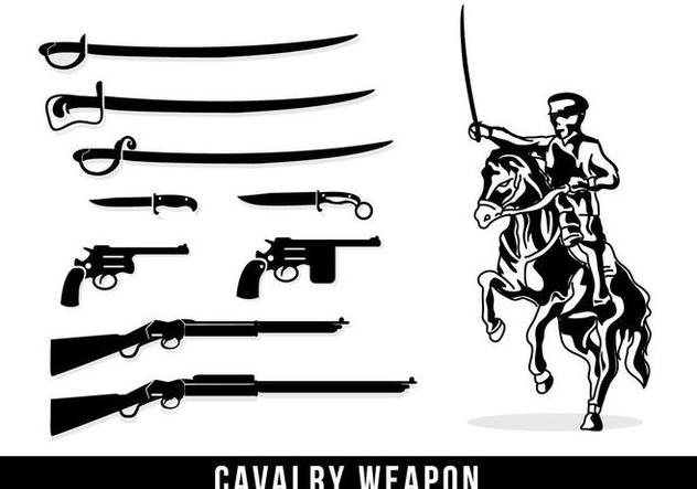 Cavalry Weapon Silhouette - Free vector #446323