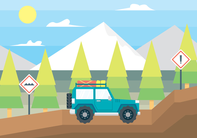 Off Road Car Illustration - бесплатный vector #446333