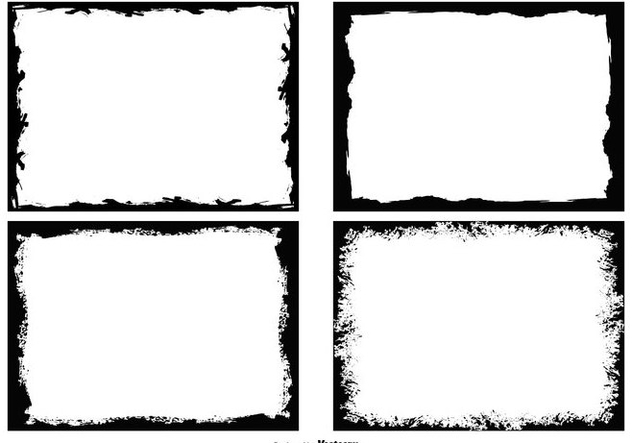 Grunge Photo Edges Collection - vector #446343 gratis
