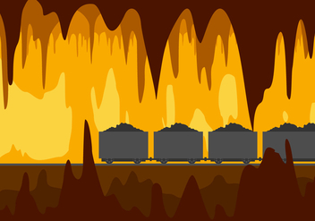 Mine Cavern Free Vector - бесплатный vector #446363