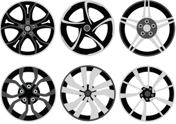 Alloy Wheels Vector Pack - Free vector #446373