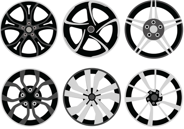 Alloy Wheels Vector Pack - vector #446373 gratis