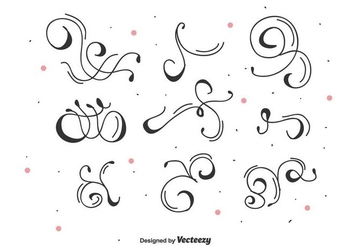 Decorative Vector Swirls - Kostenloses vector #446383
