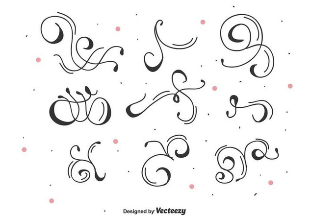 Decorative Vector Swirls - vector gratuit #446383