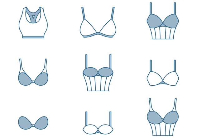 Bra Thin Line Icons - бесплатный vector #446393