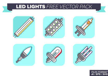 Led Lights Icons Free Vector Pack - vector #446403 gratis