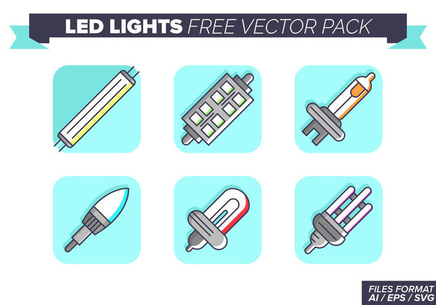 Led Lights Icons Free Vector Pack - vector gratuit #446403
