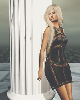 Taylor Leather Dress by United Colors @ Tres Chic - бесплатный image #446473
