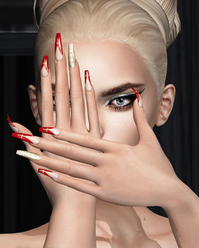 InCross Mesh Nails by SlackGirl @ Designer Circle - Free image #447133
