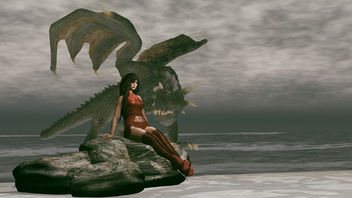 Prop & pose Mother Dragon Stone by Something New - бесплатный image #448103